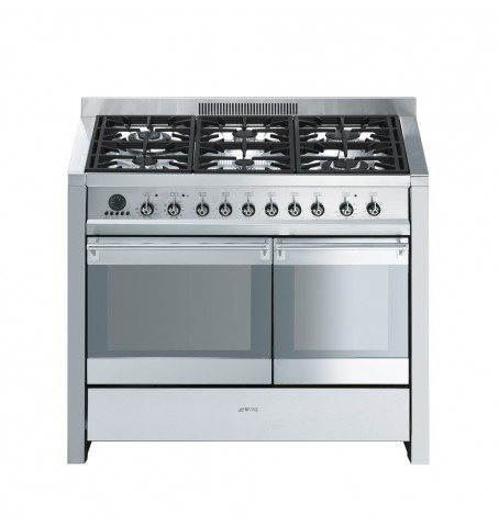 Cocina inox 2 hornos, 100cm